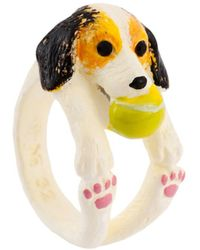 Les Nereides - Loves Animals Playful Beagle Ring - Lyst