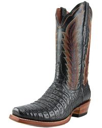 Ariat - Turnback Caiman Square Toe Leather Western Boot - Lyst