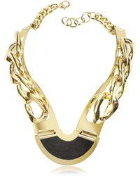 Vita Fede - Pluma Women's Gold Steel Necklace - Lyst