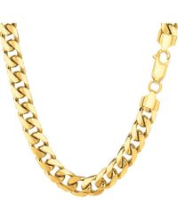 Jewelry Affairs - 14k Yellow Gold Miami Cuban Link Chain Necklace, Width 6.9mm, 30 Inch - Lyst