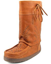 Manitobah - Mid Gatherer Women Round Toe Leather Tan Winter Boot - Lyst