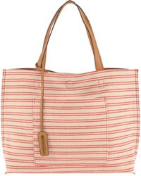 7Chi - Reversible Striped Tote - Lyst