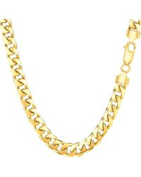 Jewelry Affairs - 14k Yellow Gold Miami Cuban Link Chain Necklace - Width 5.8mm - Lyst