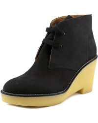 Veronique Branquinho - Vb19035 Round Toe Leather Bootie - Lyst