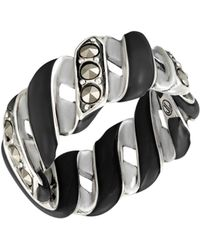 Jan Leslie - Wide Reef Ribbon Ring: The Stardust Pavé Jewelry Collection - Lyst