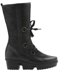 Arche - Women's Ice Lug Sole Boot Black Leather Size 37 M - Lyst