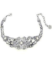 Ben-Amun - Ben Amun Swarovski Crystal Pearl Choker Necklace - Lyst