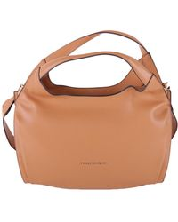 Trussardi - Women's Brown Polyurethane Shoulder Bag - Lyst