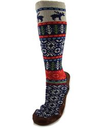 Acorn - Slipper Sock Men Us 7.5 Multi Colour Mid Calf Boot - Lyst