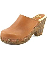 Very Volatile - Redondo Women Round Toe Leather Tan Clogs - Lyst