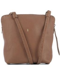 Henry Beguelin - Women's Brown Leather Shoulder Bag - Lyst