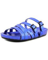ALDO - Folly Women Open Toe Synthetic Blue Slides Sandal - Lyst