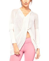 Badgley Mischka - Sport Ballet Wrap Jumper - Lyst