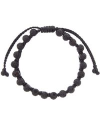 Link Up - Volcanic Rock Adjustable Bracelet - Lyst