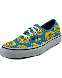 be397f925b Vans - Authentic Women Canvas Blue Fashion Sneakers - Lyst