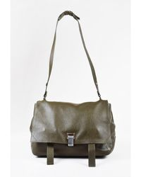 Proenza Schouler - 1 Olive Green Leather Messenger Bag - Lyst