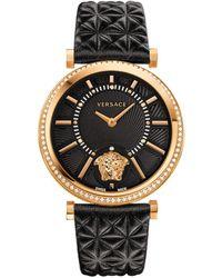 Versace - Women's V-helix Black Dial Watch, Model: Vqg050015 - Lyst