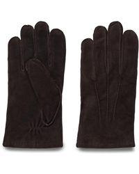 GANT - Men's Brown Suede Gloves - Lyst