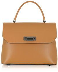 Le Parmentier - Lutece Medium Caramel Leather Top Handle Satchel Bag - Lyst