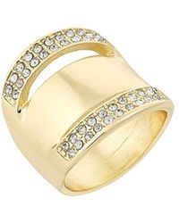 Laundry by Shelli Segal - Crystal Ring - Lyst