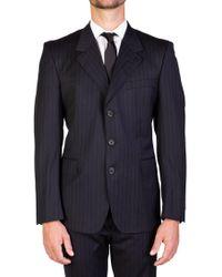 Saint Laurent - Yves Men's Wool Three-button Suit Black Pinstripes - Lyst