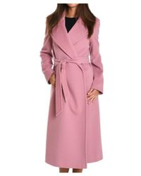 Tagliatore - Women's Pink Wool Coat - Lyst