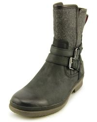 UGG - Simmens Round Toe Leather Ankle Boot - Lyst