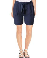 Bobeau - Womens Bianca Belted Pleated Shorts - Lyst