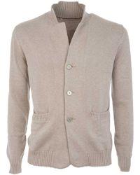 Brunello Cucinelli - Men's Beige Cotton Cardigan - Lyst