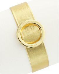 Sparkling Sage - 14k Plated Faux Leather Bracelet - Lyst