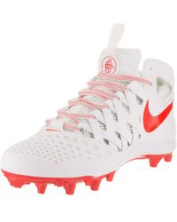 c8dfb5fa82f9 Lyst - Nike Huarache V Lax Challenge Red white White Cleated Shoe 10 ...