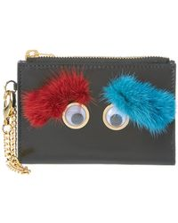 Sophie Hulme - Mini Ernie Eyebrows Leather Wallet - Lyst