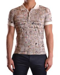John Galliano | Men's Mcbi130101o Multicolor Cotton Polo Shirt | Lyst