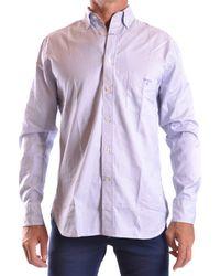 GANT - Men's Mcbi131047o Blue/burgundy Cotton Shirt - Lyst