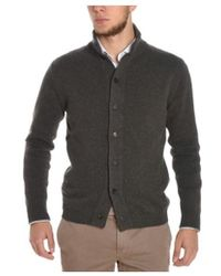 Cruciani - Men's Grey Wool Cardigan - Lyst