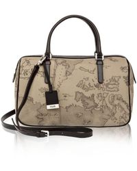 Alviero Martini 1A Classe - Women's Grey Canvas Handbag - Lyst
