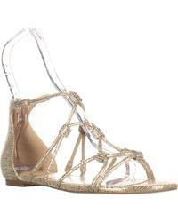 Ivanka Trump - Chaley2 Glitter Sandals, Gold - Lyst