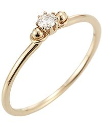 Jewelista - Diamond Solitaire Ring In 14k Yellow Gold ( 0.10cts, H-i I1) - Lyst