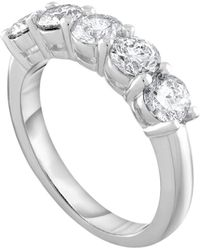 Diana M. Jewels - Platinum Wedding Band With 1.50 Carats Of Total Diamond Weight - Lyst