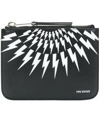 Neil Barrett - Women's Black Leather Wallet - Lyst