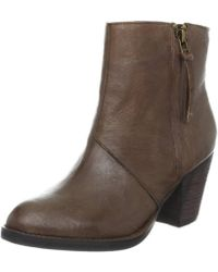 Steve Madden - Womens Partenon Leather Almond Toe Ankle Cowboy Boots - Lyst