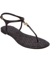 Tory Burch - Marion Quilted Leather T-strap Sandals - Lyst