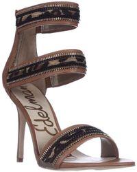 e1532e349a85 Sam Edelman Nadine Women Open Toe Synthetic Nude Platform Heel in ...