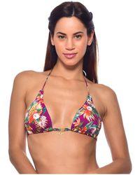 Banana Moon - Purple Triangle Swimsuit Gardenia Lua - Lyst