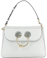 J.W.Anderson - Women's White Leather Shoulder Bag - Lyst