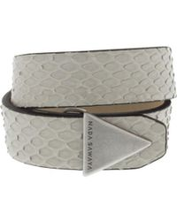 Nada Sawaya - The Double - Double Tour Python And Antik Silver-tone Bracelet - Lyst