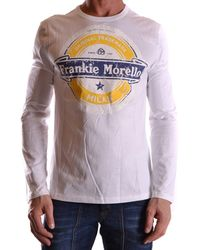 Frankie Morello - Men's Mcbi125045o White Cotton T-shirt - Lyst