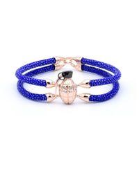 Double Bone - Grenade Bracelet Pink Gold/ Blue Stingray - Lyst