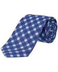Ike Behar - Navy Plaid Silk-blend Tie - Lyst