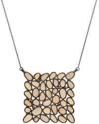Adornia - Ethiopian Opal And Diamond Mosaic Necklace - Lyst
